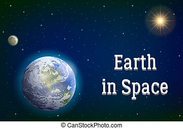 地球, 太陽, 月亮