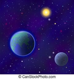 地球, 空間, seamless