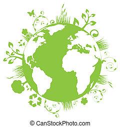 地球, 綠色