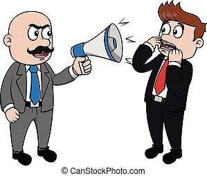 坏, 擴音器, 憤怒, 老板