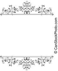 垂直, 黑色, 植物, 框架, 葡萄酒, 白色