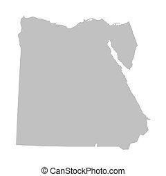 埃及, 地圖, 灰色