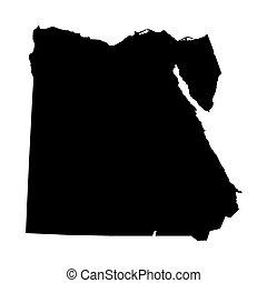 埃及, 地圖, 黑色