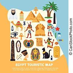 埃及, 地圖, touristic