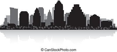 城市地平線, 黑色半面畫像, 奧斯汀