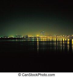 城市, 夜晚, 看法
