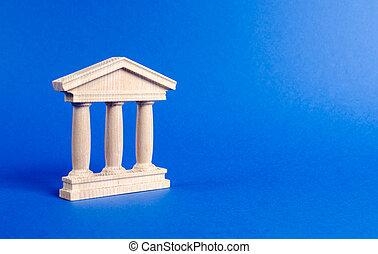 城市, 建築物, 管理, 銀行, 紀念碑, 柱子, 教育, 或者, 庭院, style., 大學, 建筑, 老, 銀行業務, 概念, government., library., 小雕像, 古董, city., 部份