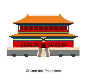 城市, 禁止, china., 北京