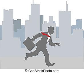 城市, 突進, 忙, 企業 人, 快點!