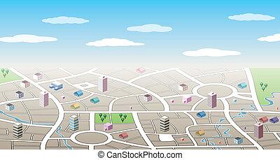 城市, 3d, 地圖