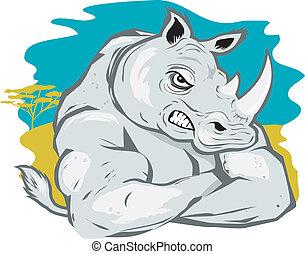 堅韌, 犀牛