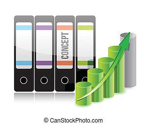報告, 文件夾, 概念, 市場
