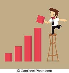 增加, 商人, 收入, 圖表