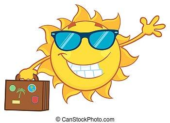 夏天, 微笑, 太陽鏡, 太陽