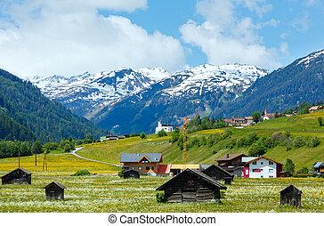 夏天, 阿爾卑斯山, 看法, 國家
