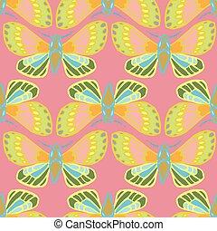 外來, 鮮艷, pattern., 蝴蝶