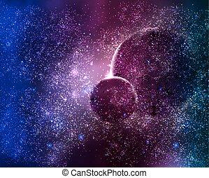 夜晚天空, 二, 行星, 空間