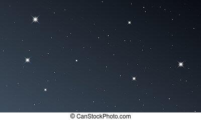 夜晚天空, 很多, 星