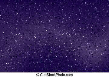夜晚天空, 藍色的背景