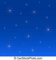 夜晚, 星, 天空