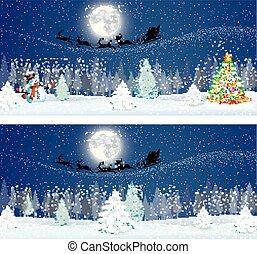 夜晚, 背景, 天空, 雪人, 漂亮
