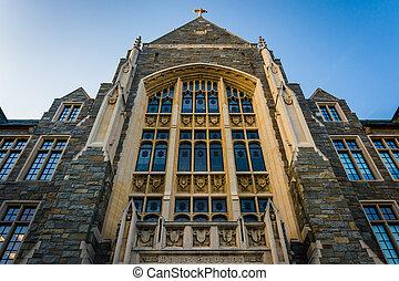 大學, white-gravenor, 華盛頓, dc., georgetown, 大廳