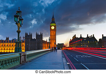 大本鐘, 夜晚, 倫敦
