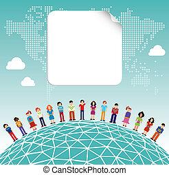 大約, 媒介, 全球, 社會, 世界, 网絡