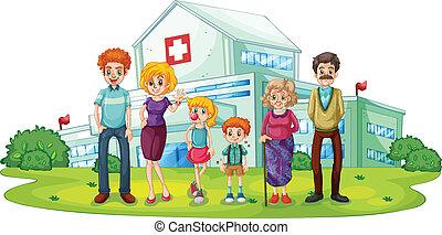 大, 醫院, 家庭