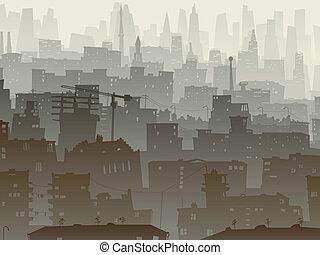 大, dusk., 城市