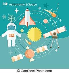 天文學, 空間