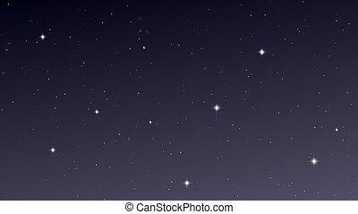 天空, 夜晚, 很多, 星