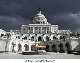 天空, 州議會大廈, 我們, 雷