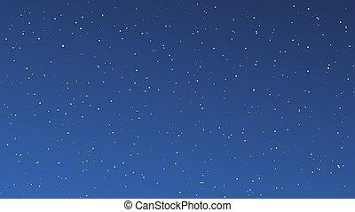 天空, 很多, 夜晚, 星