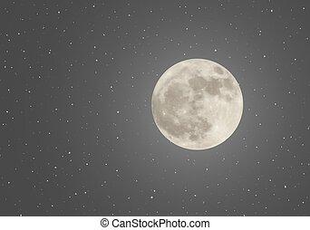 天空, 月亮, 夜晚