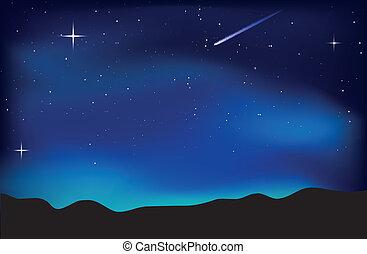 天空, 風景, 夜晚
