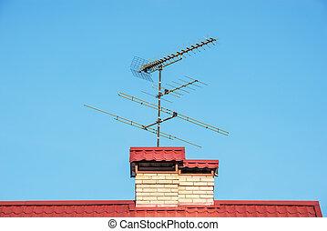 天線, 頂部, roof.