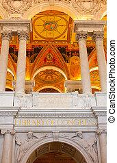 天花板, 圖書館, 華盛頓特區, 國會