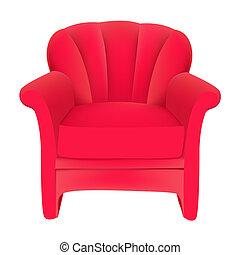 天鵝絨, 背景, 椅子, 紅色, 容易, 白色