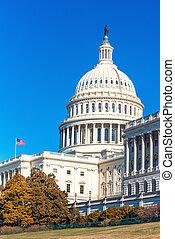 天, 州議會大廈, 陽光普照, 我們, 秋天