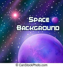太陽背景, 空間, 行星