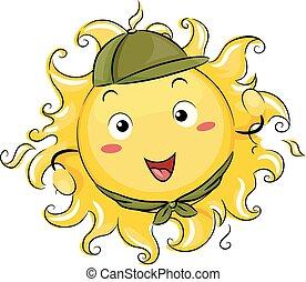 太陽, 偵察, 插圖, 吉祥人