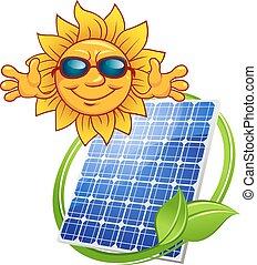 太陽, 卡通, 太陽面板