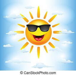 太陽, 卡通, 字符