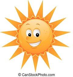 太陽, 卡通, 臉