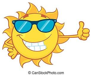 太陽, 太陽鏡, 微笑