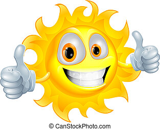 太陽, 字, 卡通, 人