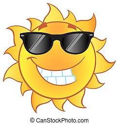太陽, 微笑, 太陽鏡