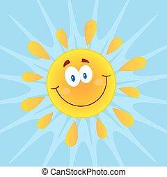 太陽, 微笑, 背景