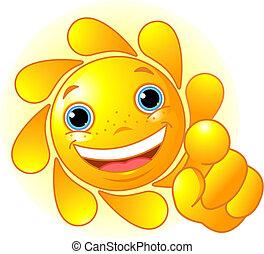 太陽, 漂亮, 指